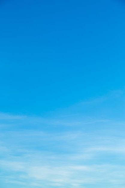 White clouds in blue sky. Premium Photo