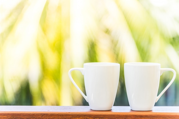 White coffee cup Free Photo