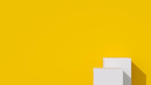 Белый цвет геометрическая форма подиум для продукта. Premium Фотографии