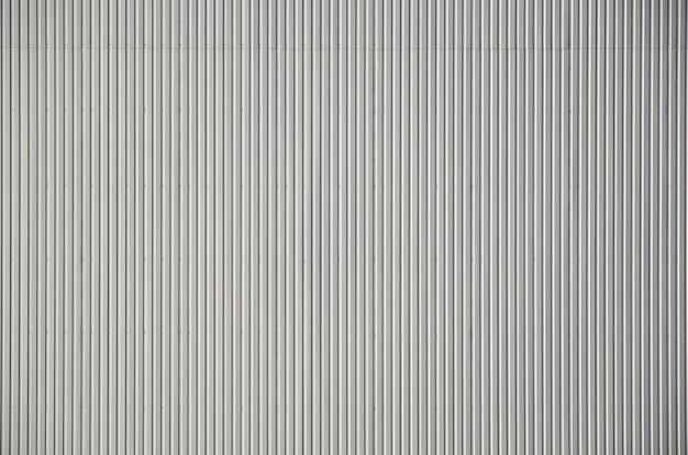 White corrugated metal texture surface Premium Photo