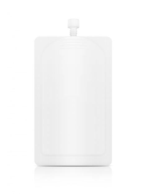 White cosmetic cream sachet Premium Photo