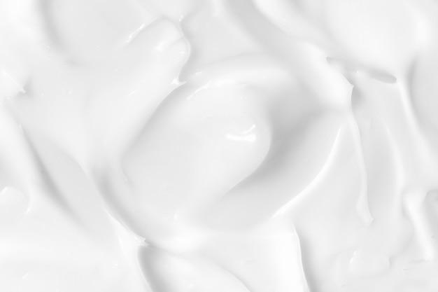 White cosmetic lotion texture Premium Photo