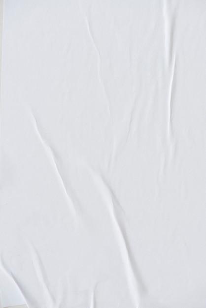흰색 주름 된 종이 텍스처 무료 사진