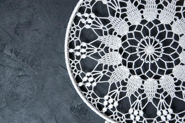 White crochet doily dream catcher Premium Photo