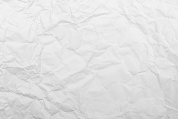 White crumpled paper texture background. Premium Photo