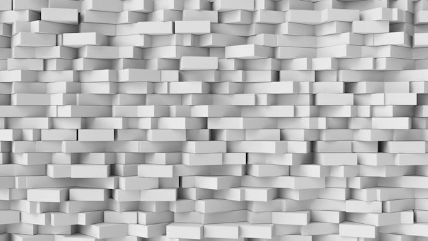 White cube abstract background. abstract white blocks. Premium Photo