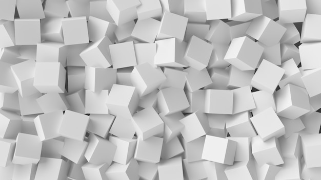 White cube abstract background Premium Photo