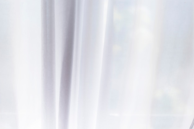 White curtain as background or texture Premium Photo