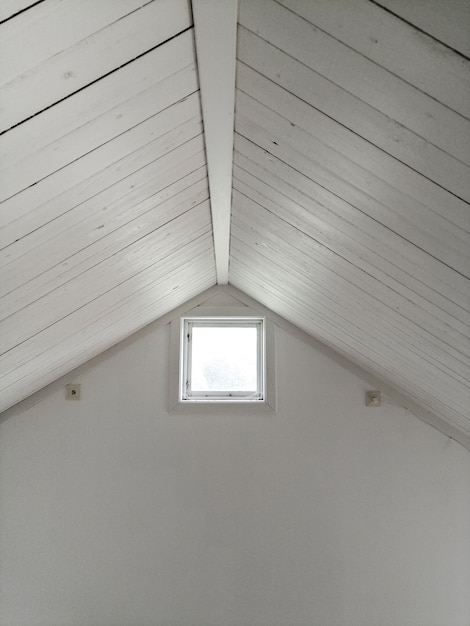 White design ceiling with window Free Photo