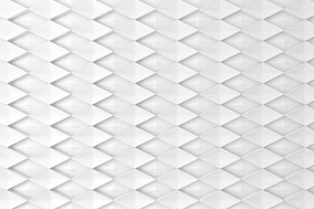 White diamond shape 3d wall for background, backdrop or wallpaper Premium Photo