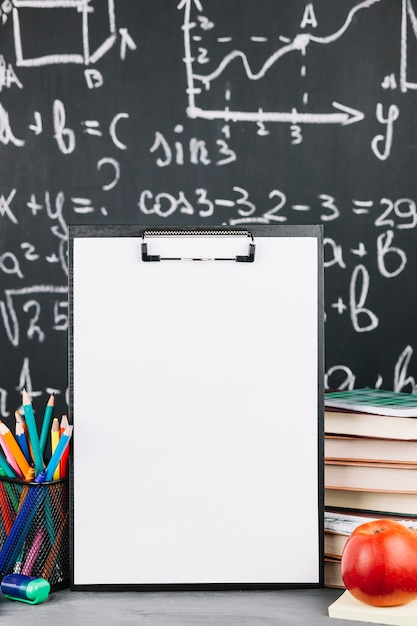 White easel on table Free Photo