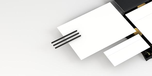 Documenti e matite di carta vuoti bianchi Foto Gratuite