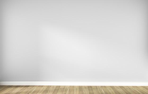 나무 바닥과 흰색 빈 스칸디나비아 룸 인테리어입니다. 3d 렌더링 프리미엄 사진