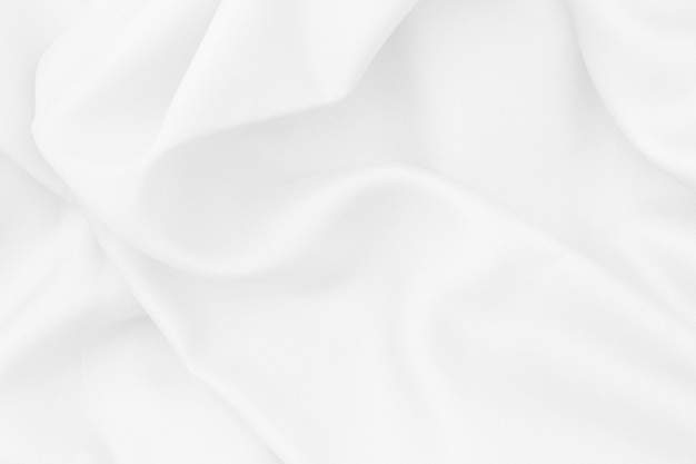 White fabric texture for background and design, beautiful pattern of silk or linen. Premium Photo