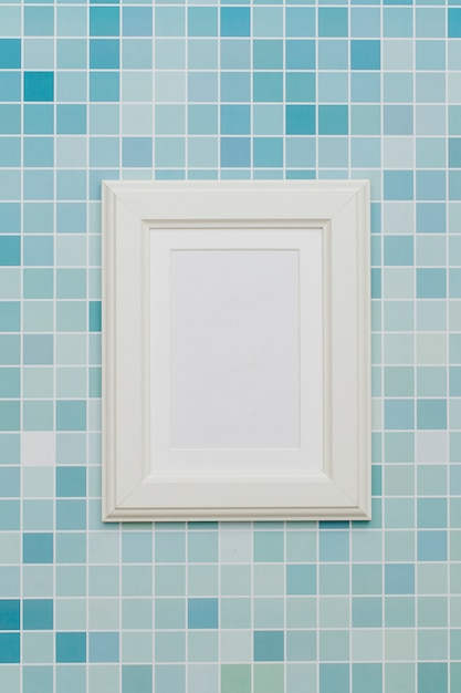 White frame with abstract background. Free Photo