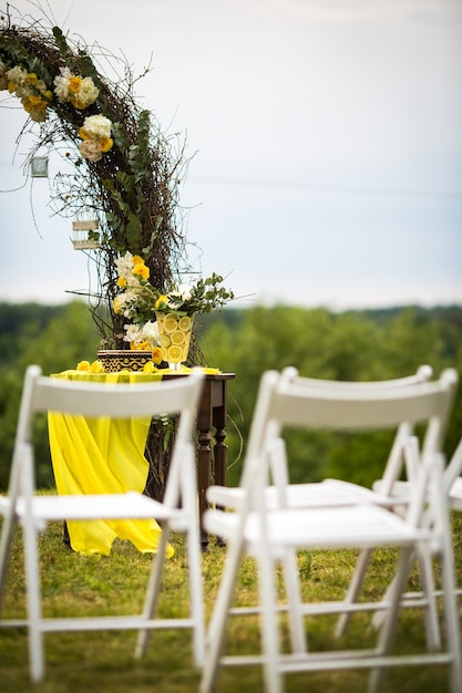 White Garden Chairs Wedding
