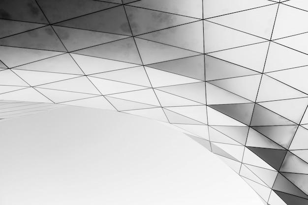 白い背景に白い幾何学的構造 無料写真