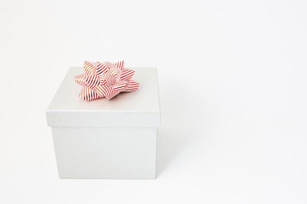 White gift box for birthday, valentine's day, christmas, new year and wedding Premium Photo