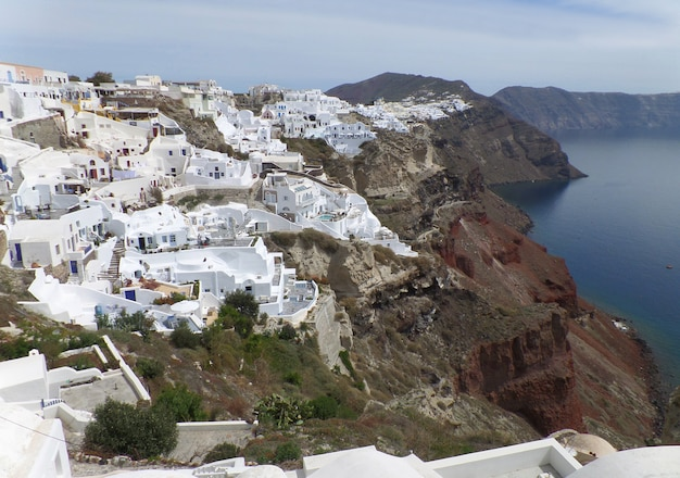 White greek islands style architecture Premium Photo