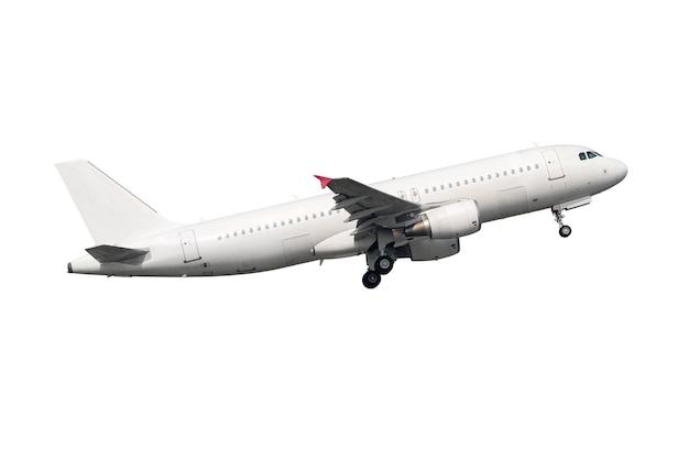 White jet engine airplane Premium Photo