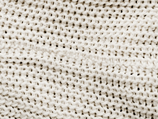 White knitted fabric background Free Photo
