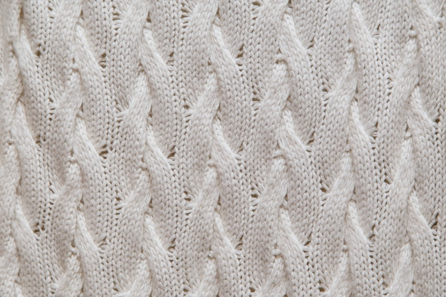 White knitted fabric texture Premium Photo