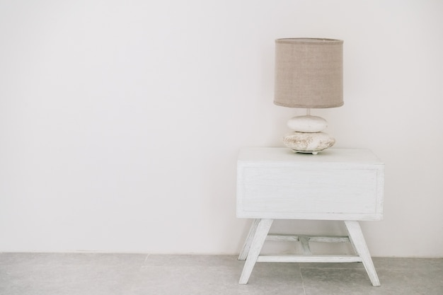 white lamp table decoration hotel Free Photo