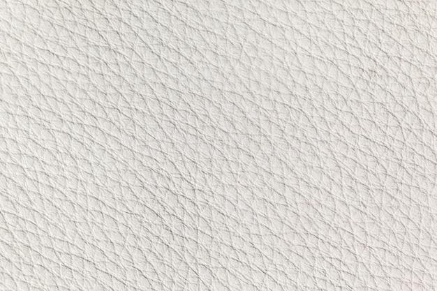 白い革の質感をクローズアップ 無料写真
