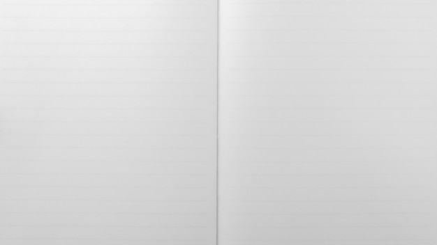 White lined sheet of notepad. - paper background. Premium Photo