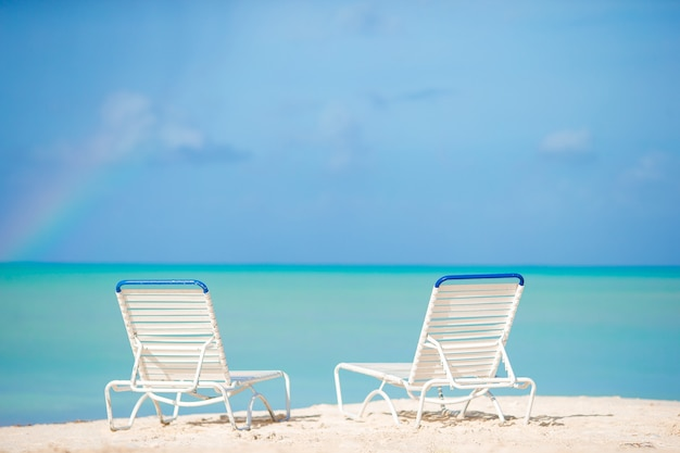 Outdoor Natural Gas Fire Pit Table, Premium Photo White Lounge Chairs On A Beautiful Tropical Beach At Maldives