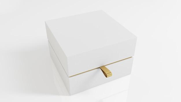 Белая роскошная коробка Premium Фотографии