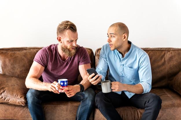 White man talking together Premium Photo