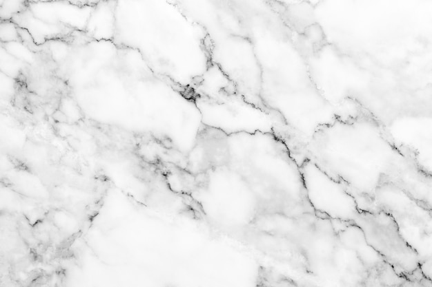 White marble texture with natural pattern for background or design art work. Premium Photo