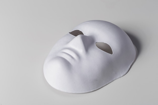 White mask close up Premium Photo