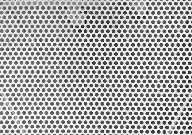 White metal mesh table surface wall Premium Photo