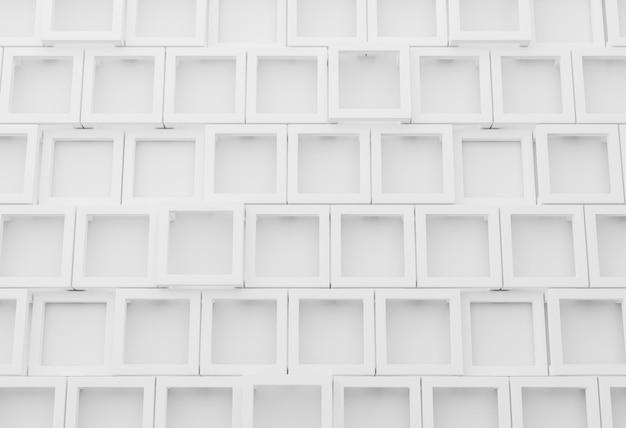 기하학적 형태와 흰색 현대 배경 프리미엄 사진