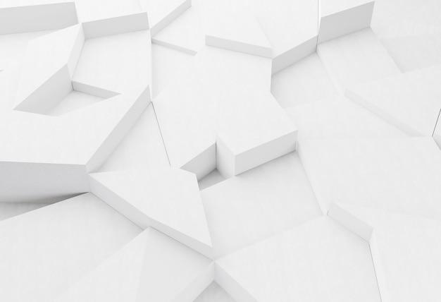 Белый современный геометрический фон Premium Фотографии