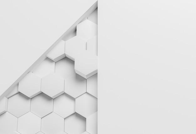 Белые современные геометрические обои с шестиугольниками Бесплатные Фотографии