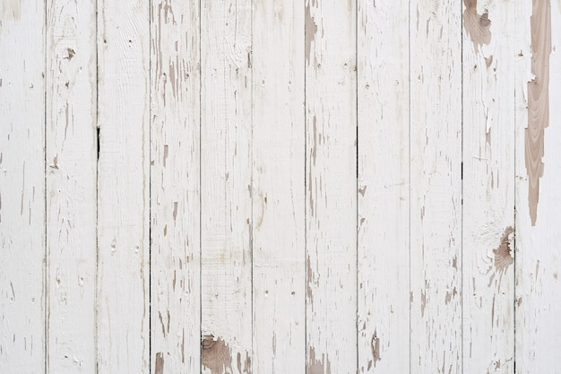 White old weathered painted wood texture panel vintage pattern. Premium Photo