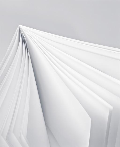 White page in a white book Premium Photo