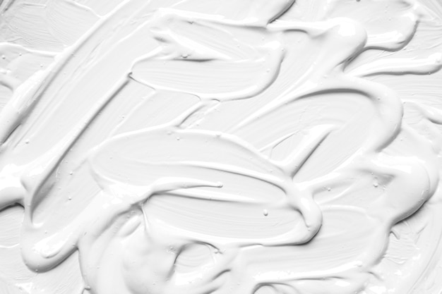 White painted surface in brush strokes Free Photo