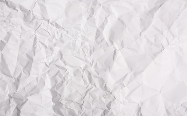 White paper crumpled background Free Photo