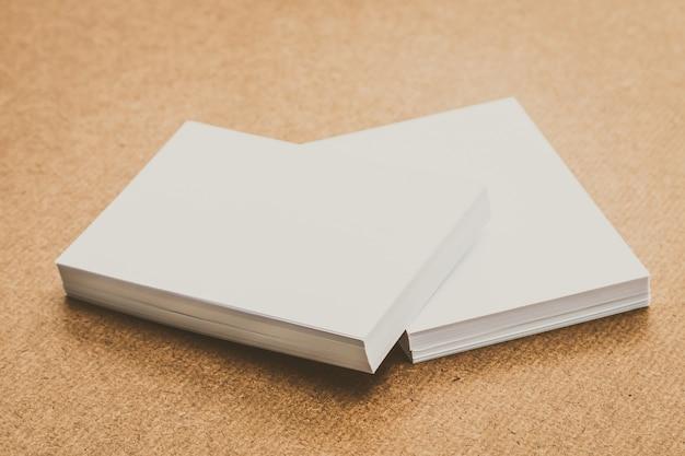 White paper mock up Free Photo