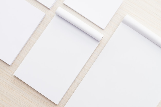 White paper mock up Free Photo