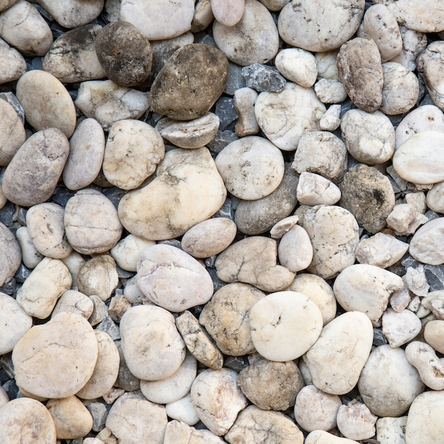 White pebble stones texture Premium Photo