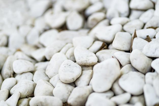 白い小石石のテクスチャと背景 無料写真