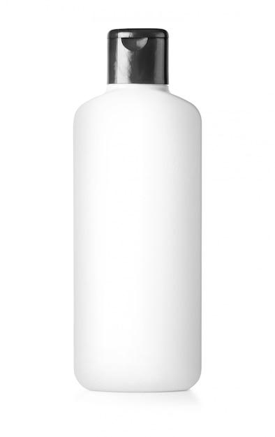 White plastic bottle isolated Premium Photo