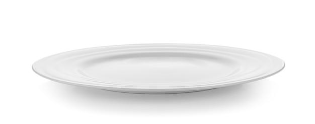 白い壁に白いプレート Premium写真