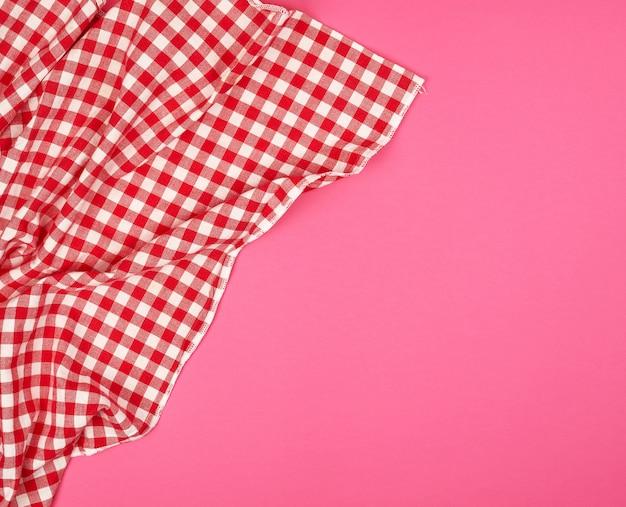 White red checkered kitchen towel Premium Photo