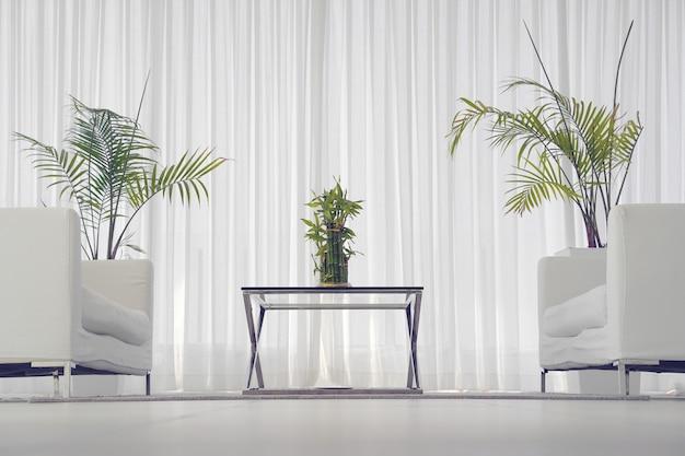White room with sofa. Premium Photo